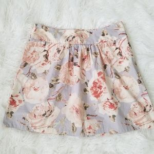 J.Crew Muted Floral Mini Circle Skater Skirt